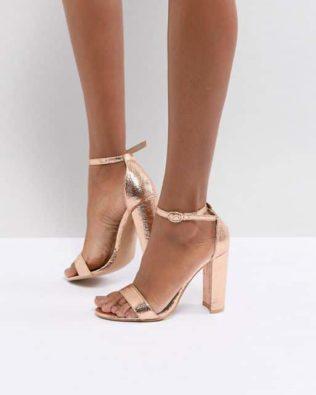 Rose Gold Barely Sandals