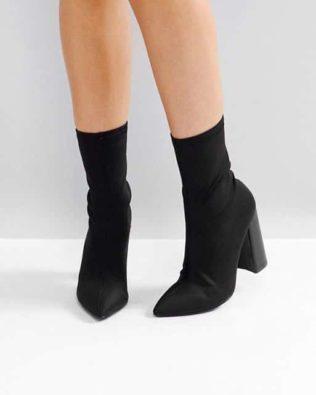 High Heeled Sock Boots